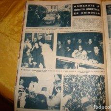Coleccionismo de Revista Hola: RECORTE : HOMENAJE A SARITA MONTIEL EN ORIHUELA. HOLA, ENRO 1965 (). Lote 164186146