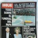 Coleccionismo de Revista Hola: REVISTA HOLA TODO SOBRE EL FUNERAL DEL PAPA N 3168 ABRIL 2005. Lote 164635406