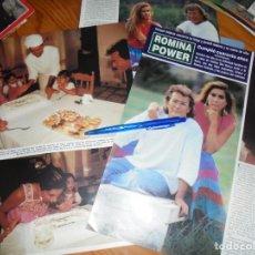 Coleccionismo de Revista Hola: RECORTE : ROMINA POWER CUMPLE 40 AÑOS. HOLA, OCTBRE 1991 (). Lote 164673178