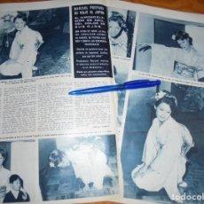 Coleccionismo de Revista Hola: RECORTE : MARISOL CON KIMONO, PREPARA VIAJE A JAPON . HOLA, MARZO 1965 (). Lote 164831598