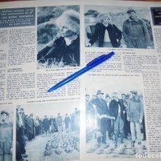 Coleccionismo de Revista Hola: RECORTE : DE CAZA CON LUIS MIGUEL Y LUCIA BOSÉ . HOLA, MARZO 1965 (). Lote 164831838