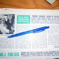 Collezionismo di Rivista Hola: RECORTE : MISTER UNIVERSO, ARNOLD SCHWARZENEGGER, RUEDA EN ESPAÑA .HOLA, MAYO 1981 (). Lote 164843122