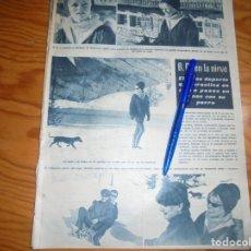 Coleccionismo de Revista Hola: RECORTE : BRIGITTE BARDOT EN LA NIEVE . HOLA, FBRO 1963 (). Lote 164847886