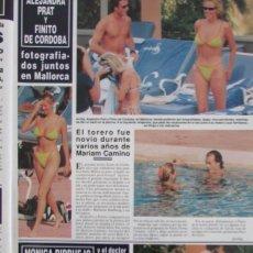 Coleccionismo de Revista Hola: RECORTE REVISTA HOLA Nº 2821 1998 ANA OBREGON, ALEJANDRA PRAT, FINITO DE CORDOBA.. Lote 165033150