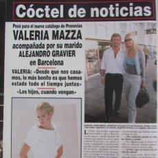 Coleccionismo de Revista Hola: RECORTE REVISTA HOLA Nº 2817 1998 VALERIA MAZZA. Lote 165042742