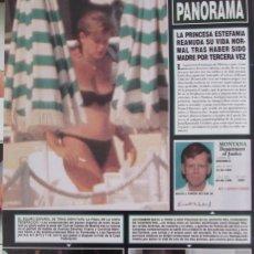 Coleccionismo de Revista Hola: RECORTE REVISTA HOLA Nº 2817 1998 ESTEFANIA DE MONACO. Lote 165042882