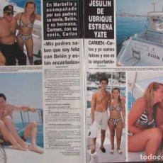 Coleccionismo de Revista Hola: RECORTE REVISTA HOLA Nº 2817 1998 JESULIN DE UBRIQUE, BELEN ESTEBAN. . Lote 165042962