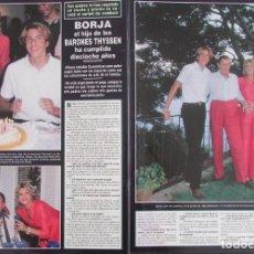 Coleccionismo de Revista Hola: RECORTE REVISTA HOLA Nº 2817 1998 BORJA THYSSEN, TITA CERVERA. . Lote 165043066