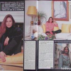 Coleccionismo de Revista Hola: RECORTE REVISTA HOLA Nº 2777 1989 DANIELA ROMO 3 PGS. Lote 165046250