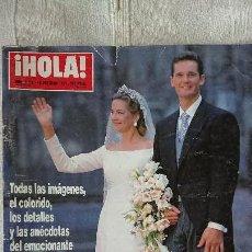 Coleccionismo de Revista Hola: LA BODA DE LA INFANTA CRISTINA E IÑAKI URGANGARIN - OCTUBRE 1997 Nº 2775. Lote 165059602