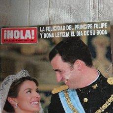 Coleccionismo de Revista Hola: BODA DEL PRINCIPE FELIPE Y DOÑA LETIZIA - JUNIO 2004 Nº 3122. Lote 165061126