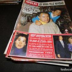 Coleccionismo de Revista Hola: REVISTA HOLA 2211 1 ENERO 1987. Lote 165340666