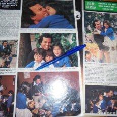Collectionnisme de Magazine Hola: RECORTE : JULIO IGLESIAS, ESCALA EN MADRID PARA VER A SUS HIJOS . HOLA, NVMBRE 1978 (). Lote 165581206