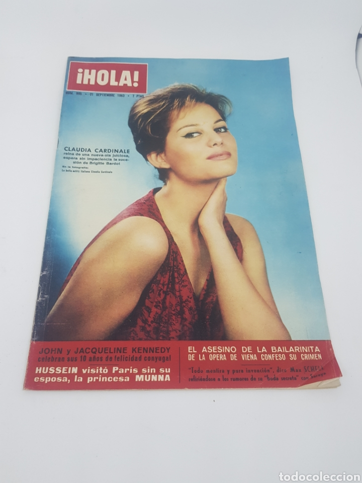 REVISTA HOLA NÚMERO 995 SEPTIEMBRE 1963 CLAUDIA CARDINALE JOHN Y JACQUELINE KENNEDY (Coleccionismo - Revistas y Periódicos Modernos (a partir de 1.940) - Revista Hola)