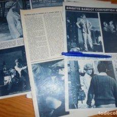 Coleccionismo de Revista Hola: RECORTE : BRIGITTE BARDOT CONVERTIDA EN GOLFILLO NEOYORQUINO. HOLA, MARZO 1965 (). Lote 165767750