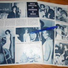 Coleccionismo de Revista Hola: RECORTE : LA CANTANTE SHEILA CONVERTIDA EN DISEÑADORA DE MODAS. HOLA, MARZO 1965 (). Lote 165767918