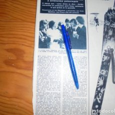 Coleccionismo de Revista Hola: RECORTE : LA PRINCESA SORAYA CON LOS BEATLES. HOLA, MARZO 1965 (). Lote 165768106