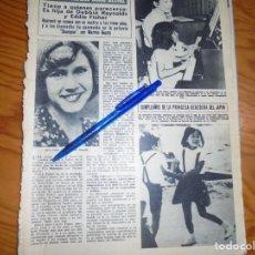 Coleccionismo de Revista Hola: RECORTE : CARRIE FISHER, PRINCESA LEIA EN STAR WARS, QUIERE SER ACTRIZ. HOLA, DCMBRE 1975 (). Lote 165780422
