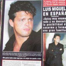 Coleccionismo de Revista Hola: RECORTE REVISTA HOLA Nº 2805 1998 LUIS MIGUEL . Lote 165926606