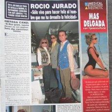 Coleccionismo de Revista Hola: RECORTE REVISTA HOLA Nº 2644 1995 ROCIO JURADO. Lote 165936418