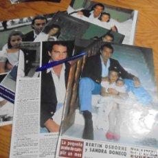 Coleccionismo de Revista Hola: RECORTE : BERTIN OSBORNE PRESENTA A SU HIJA EUGENIA. HOLA, JUNIO 1986 (). Lote 165956682