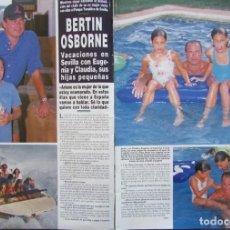 Coleccionismo de Revista Hola: RECORTE REVISTA HOLA Nº 2766 1997 BERTIN OSBORNE. Lote 166146546