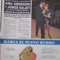 Coleccionismo de Revista Hola: RECORTE REVISTA HOLA Nº 2726 1996 ANA OBREGON. Lote 166148718