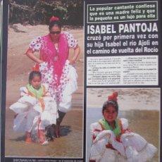 Coleccionismo de Revista Hola: RECORTE REVISTA HOLA Nº 2810 1998 ISABEL PANTOJA. Lote 166234162