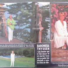 Coleccionismo de Revista Hola: RECORTE REVISTA HOLA Nº 2772 1997 CARMEN CERVERA BARONESA THYSSEN. 5 PGS. Lote 166236518