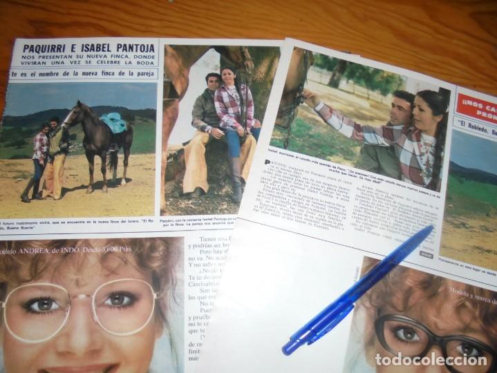 RECORTE : ISABEL PANTOJA Y PAQUIRRI, PROXIMA BODA Y NUEVA FINCA. HOLA, ABRIL 1982() (Coleccionismo - Revistas y Periódicos Modernos (a partir de 1.940) - Revista Hola)