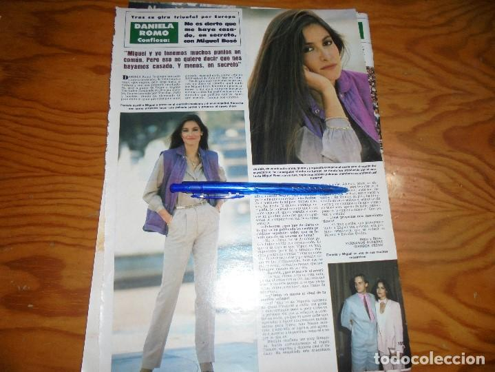 RECORTE : DANIELA ROMO DESMIENTE SU BODA CON MIGUEL BOSÉ. HOLA, MARZO 1984 () (Coleccionismo - Revistas y Periódicos Modernos (a partir de 1.940) - Revista Hola)