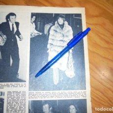 Coleccionismo de Revista Hola: RECORTE : MARISOL REGRESA DE LONDRES. HOLA, MARZO 1972 (). Lote 167528936