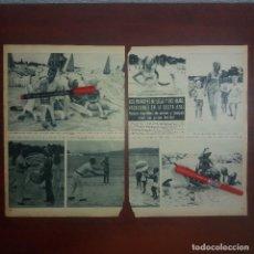Coleccionismo de Revista Hola: RECORTE REVISTA 2 PAG.- HOLA 1967 - PRINCIPES DE LIEJA Y HIJOS EN LA COSTA AZUL. Lote 167533316