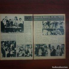 Coleccionismo de Revista Hola: RECORTE REVISTA 2 PAG.- HOLA 1967 - GRACIA DE MONACO EN HOLLYWOOD ONCE AÑOS DESPUES. Lote 167533884