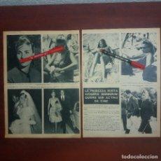 Coleccionismo de Revista Hola: RECORTE REVISTA 2 PAG.- HOLA AÑO 1967 - PRINCESA MIRTA SCIARRA BERBERINI QUIERE SER ACTRIZ CINE. Lote 167534132