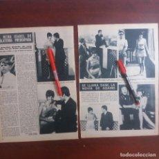 Coleccionismo de Revista Hola: DANI LA NOVIA DE ADAMO -HOLA AÑO 1967 - RECORTE REVISTA 2 PAG.- . Lote 167534604