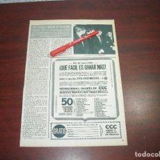 Coleccionismo de Revista Hola: BEATLES RUMORES DE SEPARACION -HOLA AÑO 1966 - RECORTE REVISTA 1 PAG.-. Lote 167547284