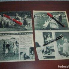 Coleccionismo de Revista Hola: SOFIA LOREN VISITA LA FAMILIA PLATO C'ERA UNA VOLTA -HOLA AÑO 1966 - RECORTE REVISTA 2 PAG.-. Lote 167547472