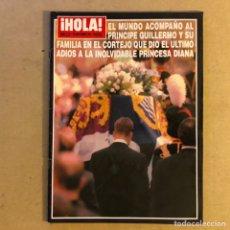 Coleccionismo de Revista Hola: ¡HOLA! N°2771 (SEPTIEMBRE, 1997). FUNERAL DE LA PRINCESA DIANA (LADY DI).. Lote 167756405