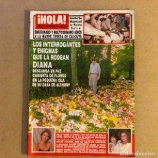 Coleccionismo de Revista Hola: ¡HOLA! N°2772 (SEPTIEMBRE, 1997). MUERTE DE LADY DI, FUNERAL MADRE TERESA DE CALCUTA,.... Lote 214191102