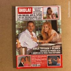 Coleccionismo de Revista Hola: ¡HOLA! N°3285 (JULIO, 2007). BORJA THYSSEN Y BLANCA, LARA DIBILDOS, VALENTINO, ANA OBREGÓN,.... Lote 167763714