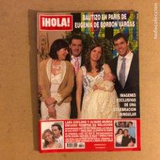 Coleccionismo de Revista Hola: ¡HOLA! N°3280 (JUNIO, 2007). BAUTIZO NIETA CARMEN MARTÍNEZ BORDIÚ, EUGENIA MARTÍNEZ DE IRUJO. Lote 167764222