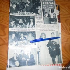 Coleccionismo de Revista Hola: RECORTE : LA REVISTA TELVA RINDE HOMENAJE A LA MODA : JUNCAL RIVERO. HOLA, JUNIO 1988 (). Lote 167784260
