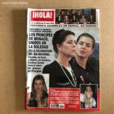 Coleccionismo de Revista Hola: ¡HOLA! N°3409 (DICIEMBRE, 2009). PRINCIPES DE MÓNACO, BARONESA THYSSEN, DOÑA LETIZIA,.... Lote 167877622