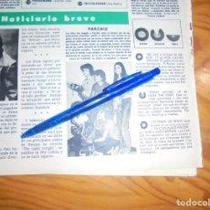 Coleccionismo de Revista Hola: RECORTE : EL GRUPO PARCHIS, Nº 1 DE LOS NIÑOS . HOLA, ABRIL 1981 (). Lote 167915508