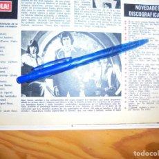 Collezionismo di Rivista Hola: RECORTE : EL GRUPO LOS CHICHOS. HOLA, FBRERO 1974 (). Lote 168046032