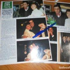 Coleccionismo de Revista Hola: RECORTE : BODA DE JERRY LEWIS. HOLA, MARZO 1983 (). Lote 168294892