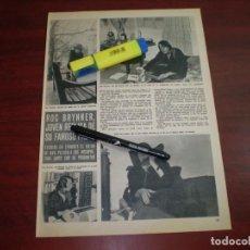 Coleccionismo de Revista Hola: ROC BRYNNER - RECORTE- HOLA AÑO 1975- VER DETALLES. Lote 168343904