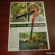 Coleccionismo de Revista Hola: KAREN VALENTINE DENOMINADA ROSTRO FASCINANTE TV AMERICANA- RECORTE- HOLA AÑO 1975- VER DETALLES. Lote 168344228