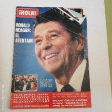 Coleccionismo de Revista Hola: REVISTA HOLA. 11 ABRIL 1981. Nº13Q1. RONALD REAGAN. EL ATENTADO. TDKR66. . Lote 168511028